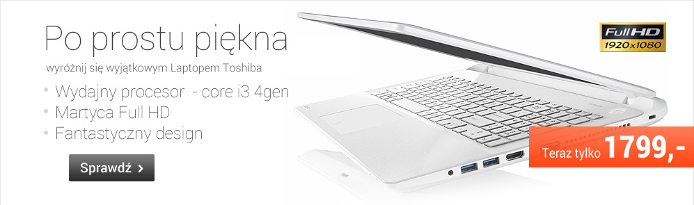 Piękna wyjątkowa Toshiba